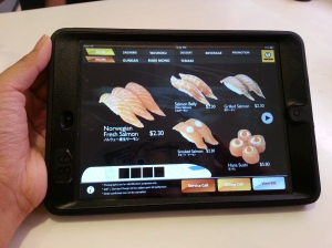 Using tablets to order our food