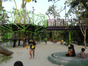 The playground at the sandy area