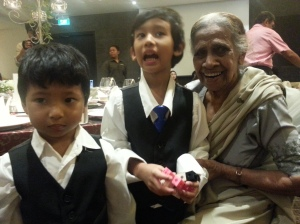 With parti, their great-grandma