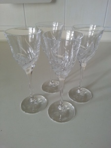 My vintage crystal glasses