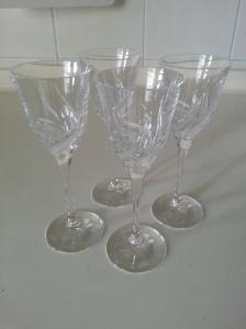 My vintage crystal glasses