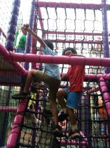 Climbing away