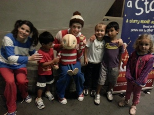 Asher, Ellery, M and L with two of three cast members from the show