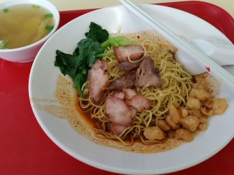 My less than dainty, but not overly gluttonous portion of lard to accompany my wanton mee