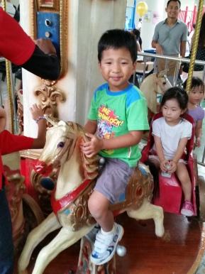 Ellery on the merry-go-round