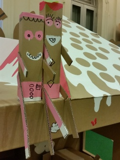 Cute cardboard people