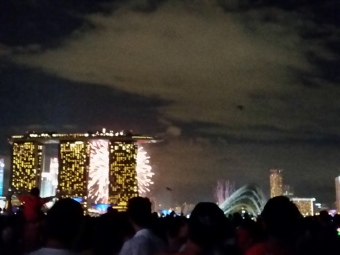 Every year the fireworks are blocked by that same building. Wish we could shift MBS a bit to the left.