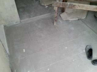 Backyard tiles in
