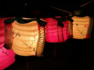 Pretty lanterns all in a row