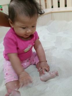 Loving the feel of sand