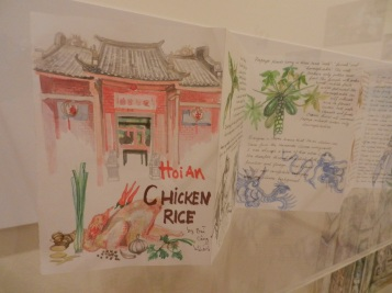 Beautiful watercolours on this sheet describing the ingredients that go into Hoi An Chicken Rice