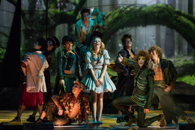 Wendy with Peter Pan and the Lost Boys (Photo by Leslie Artamonow)
