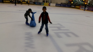 Asher managed to skate on his own :)