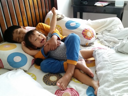 "Ellery: ""Mummy! Why is my bolster moving?"""