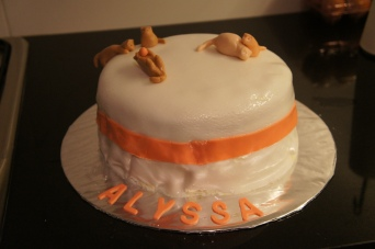 The end result! Kitty cat cake for Alyssa :)