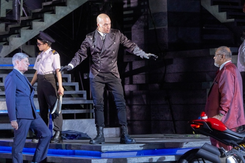 David Gooderson, Brendon Fernandez, Remesh Panicker in SRT's Shakespeare in the Park - Romeo & Juliet