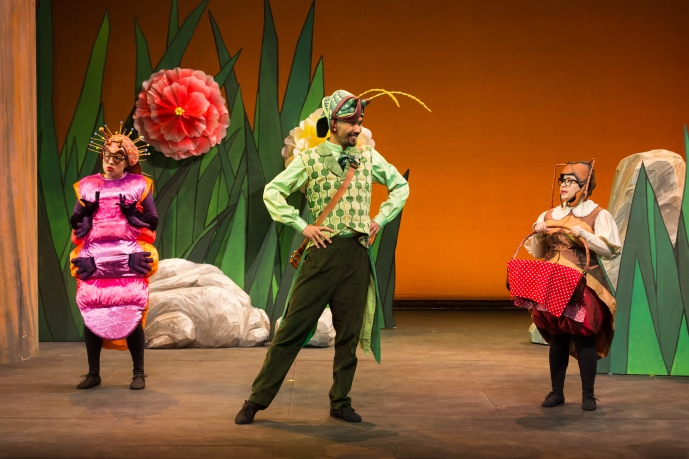 Nessa the caterpillar, Grasshopper, and Ant (Photo credit: iTheatre)